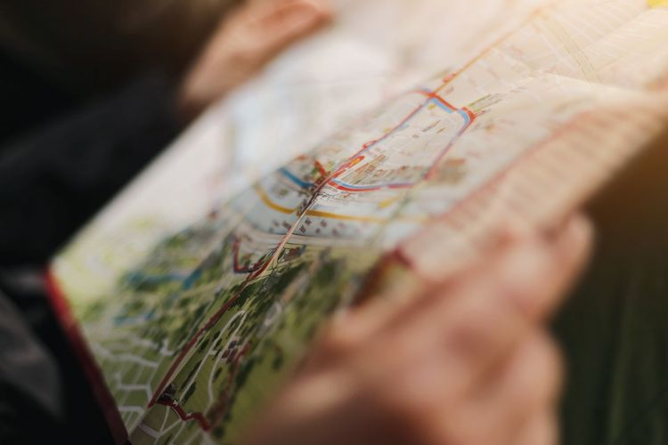 City map City Map Map Selective Focus Human Body Part Close-up One Person Hand Human Hand Map Searching Focus On Foreground Creativity Day