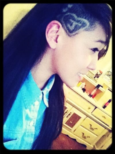 Tried a new barber didn't really come out how I wanted it but whatever it's hair lol , n my long hair was being dumb that day . But yeah . c: