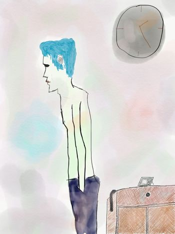 Between time and walls🕰 Between Time Walls Drawing Draw Sketch Adobesketch Blue Hair BlueHair Bluehairdontcare Bluehairtheme Skinny Skinnyjeans Skinnyboy Skinny Legs Skinny Jeans Skinny Love  Skinnylove Skinnylegs Dark Sadness Sad Hopeless People