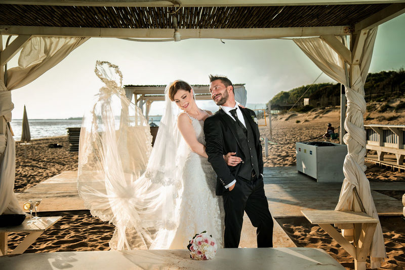 Adult Bride Bridegroom Celebration Couple - Relationship Event Life Events Love Married Men Newlywed Positive Emotion Real People Standing Togetherness Two People Wedding Wedding Ceremony Wedding Dress Women Young Adult Young Men