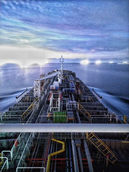 Nautical Theme Beauty Nightphotography Tanker Ship Life Onboard Nautical Vessel Sky And Clouds Water No People Outdoors Sea Architecture Nature
