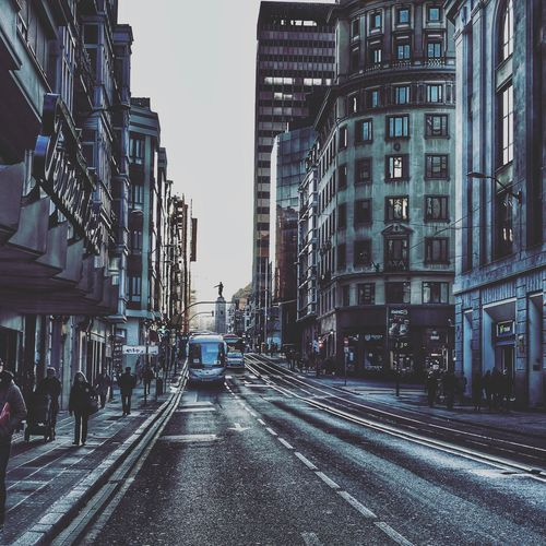 The Architect - 2017 EyeEm Awards Architecture City Transportation Street Building Exterior Mode Of Transport Outdoors Built Structure Day Road Sky No People Bilbao
