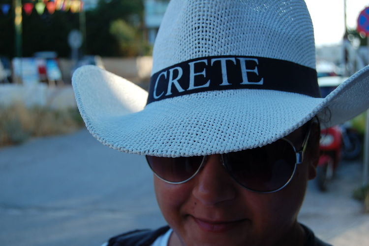 Crete Hat Hat Travel Photography Travel Greece GREECE ♥♥ Crete Greece Crete Sissi Hats An Eye For Travel One Person Headshot Close-up Portrait Adult Day Outdoors People Adults Only Human Body Part Young Adult EyeEmNewHere Love Yourself Stories From The City Summer Exploratorium Visual Creativity Adventures In The City This Is My Skin