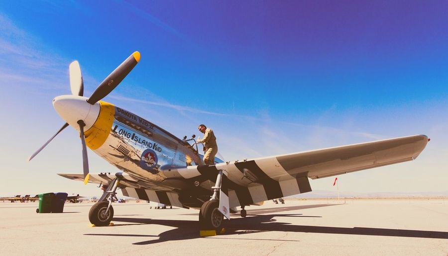Los Angeles Air Show WwII Airplane Air Force Antique Aircraft Fighter Plane