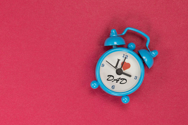 Love Alarm Clock Blue Clock Clock Clock Face Close-up Day Hour Hand I Love Daddy Indoors  Minute Hand No People Time