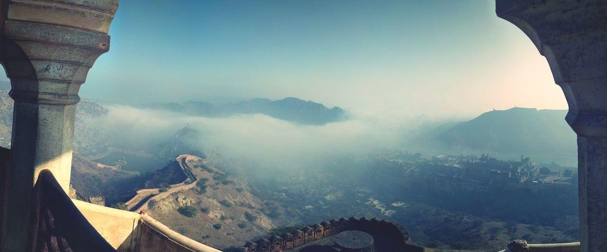 Mountain Landscape Beauty In Nature Nature Mountain Range Fog Travel Destinations Cloud - Sky Day Adventure Outdoors Mountain Peak Clear Sky Sky Amerfortjaipur EpicFeeling Finding New Frontiers Adapted To The City Miles Away Flying High The Secret Spaces TCPM The Architect - 2017 EyeEm Awards The Great Outdoors - 2017 EyeEm Awards EyeEm Selects