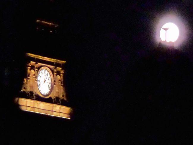 Clock Dark Darkness And Light Full Moon Glasgow By Night Glasgow Central GLASGOW CITY Moonlight Station Clock