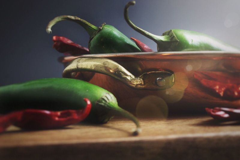 Playing with Fire Ingredients Yum Hot Food Jalapeno Food Photography Green Color Close-up No People Indoors  Red Nature Water Freshness