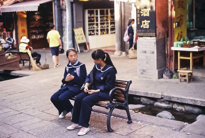 RePicture Friendship Girls Streetphotography 135film Pentax MZ-7 Pentax