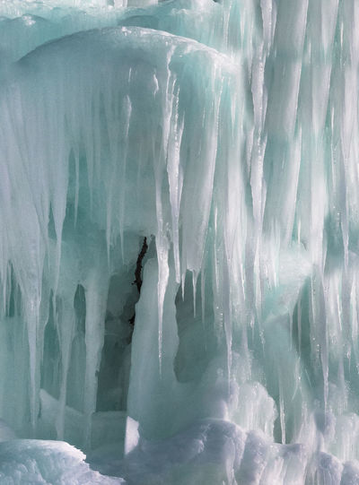 Full frame shot of icicles in cave