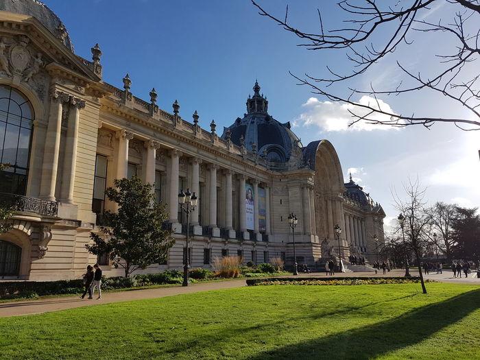 grand palais Paris France Grandpalais Castel Grass Travel Destinations Architecture History Sky Statue Day Tree Politics And Government