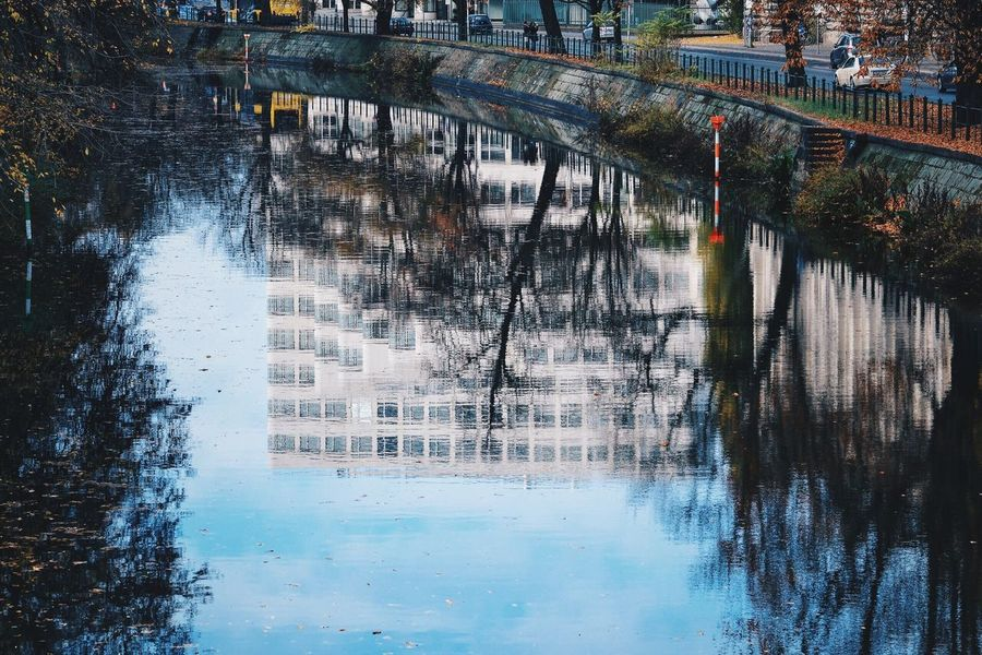 Water Day Waterfront Outdoors Built Structure River Architecture Motion Nature Tree No People Beauty In Nature Scenics Colour Colour Of Autumn Autumn Autumn colors Berlin Berlin Photography Vacations Autumn Collection Likrforfollow Like4like Water Reflections Weather