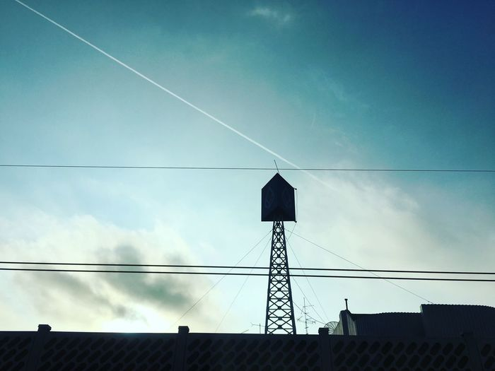 Sky Low Angle View Cable Power Supply Architecture Electricity  No People Built Structure Day Outdoors Vapor Trail Nature