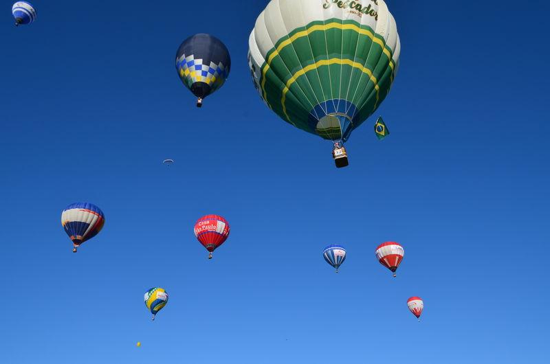 Brazil Ballons Festival Hot Air Balloon Multi Colored Blue Sky Balonismo Balonismo Torres