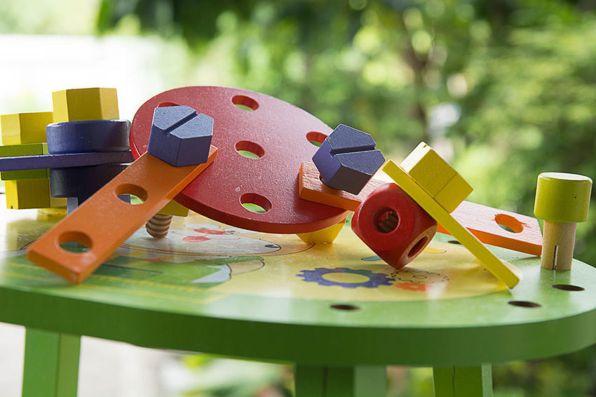 Remember Childhood Close-up Colorful Day Focus On Foreground No People Outdoor Photography Still Life Table Toy