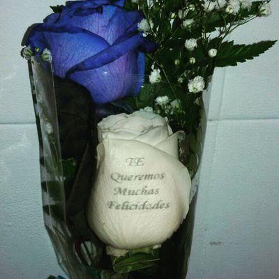 Rosa azul con una rosa con un mensaje grabado en el petalo, una de nuestras rosas exclusivas q puedes encontrar en nuestra web de flores a domicilio www.graficflower.com, visitanos y sorprendel@s. Rosaazul Rosasazules Blueroses Bluerose Regalooriginal Regalo Regalos Regalosdecumpleaños