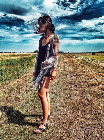The Wind At Her Back Against The Wind Asian Girl Cambridgeshire Casual Clothing Cloud Cloud - Sky Delicate Beauty Full Length Girl Landscape Outdoors Sky The Fens The Wind Is Blowing Tranquil Scene Tranquility Wind Blowing  Wind Blowing My Hair.. :) Wind Blown Let Your Hair Down