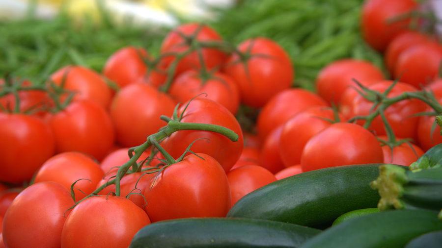 Close-up of fresh vegetables for sale at market