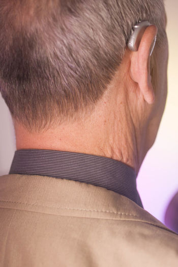 Close-up rear view of a man