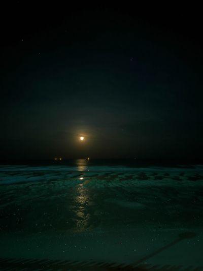 The Moon The Moon Tonight Moon Sea Night Sea Night Night Lights Big Moon Moon And Sea Beauty In Nature No People Outdoors Beach