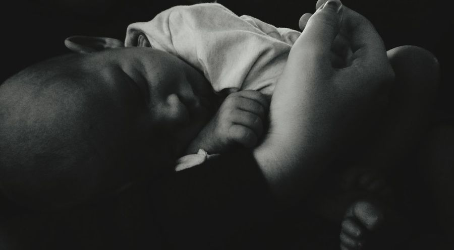 Proudfather  Little Boy Black & White Mothers Arms Wonderful Baby Cute Myhero❤