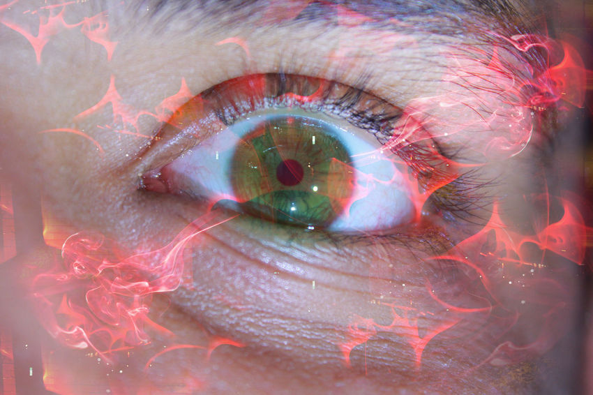 Red Spark Eye Horror Macro Photography ScarlettWitch Creepy Eye Eyes Human Eye Macro Specialeffect
