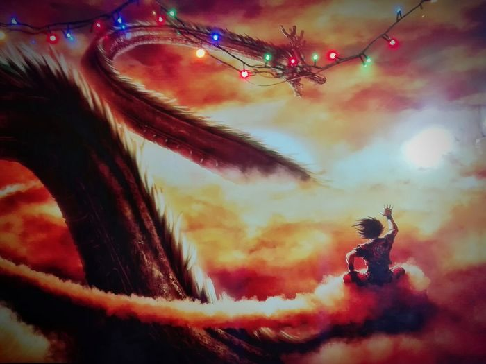 #DBZ #goku #shenlong #picture Multi Colored Arts Culture And Entertainment Sky Close-up