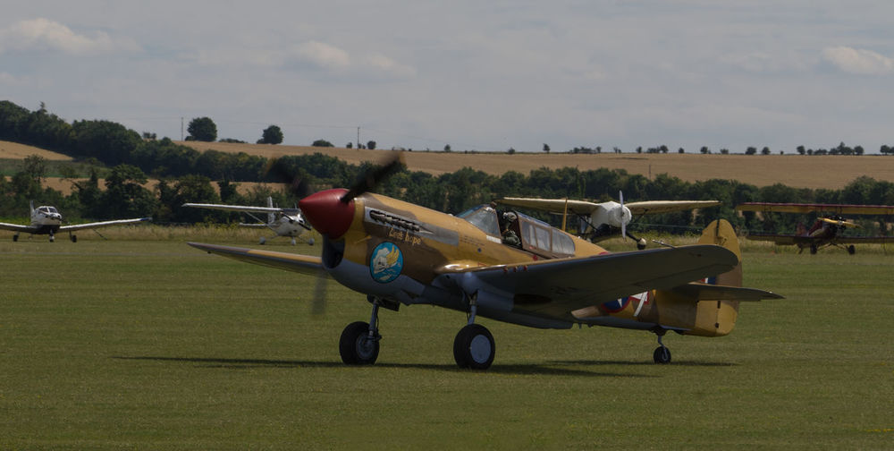 Curtiss-Wright Warhawk P40F 1941 Duxford Air Show Duxford Imperial War Museum Plane Raw SONY A7ii Aircraft Wing French Manfrottobefree Spotter Warbird Ww2 Zeiss