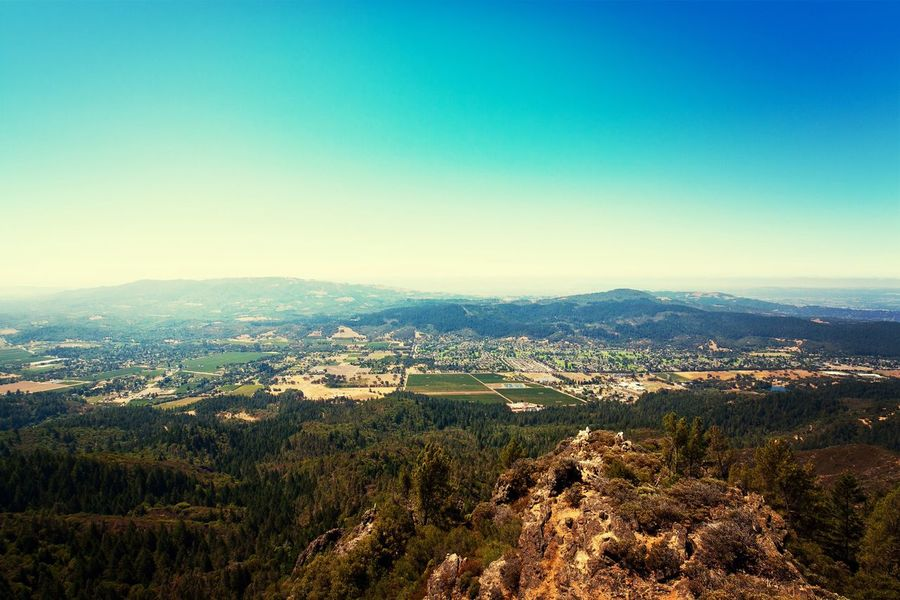 View from Gunsight Rock at Hood Mountain in Sonoma County Sonomacounty California Landscape Enjoying The View