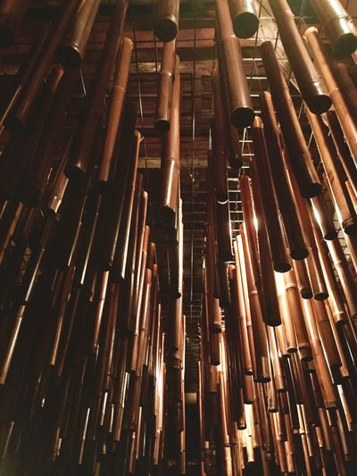 Ceiling of a Japanese bar. Art Is Everywhere Backgrounds Bamboo Ceiling Close-up Full Frame Indoors  Large Group Of Objects Light Low Angle View No People Wood - Material