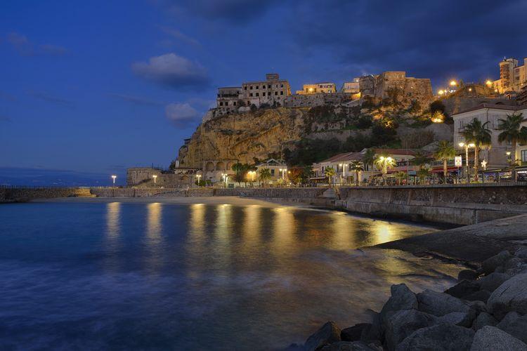 Italia Architecture Building Exterior Calabria History Illuminated Italy Pizzo Calabro Sea Sky The Past Water