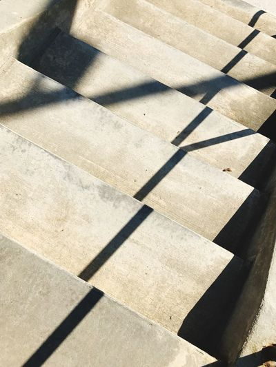 Shadows on staircase. Shadow Sunlight High Angle View No People Day Outdoors Close-up Stairs Staircase Backgrounds Urban Texture