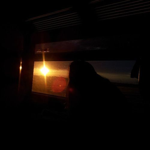 Waiting for you! Sunset Yellow Crimsonorange Train Evening Girl Window Waiting Journey Attracts Nature Beauty