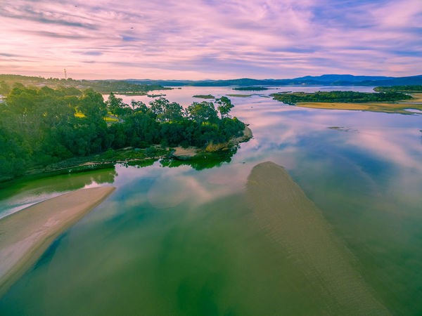 Aerial view of Wallagaraugh River mouth and Goat Island at sunset. Mallacoota, Victoria, Australia Aerial Shot Australia Australian Landscape Drone  Mallacoota Victoria National Park Aerial Aerial Landscape Aerial View Beauty In Nature Cloud - Sky Corajingolong Day Drone Photography Lake Mallacoota Nature No People Outdoors Scenics Sky Sunset Tranquil Scene Tranquility Tree Wallagaraugh River Water