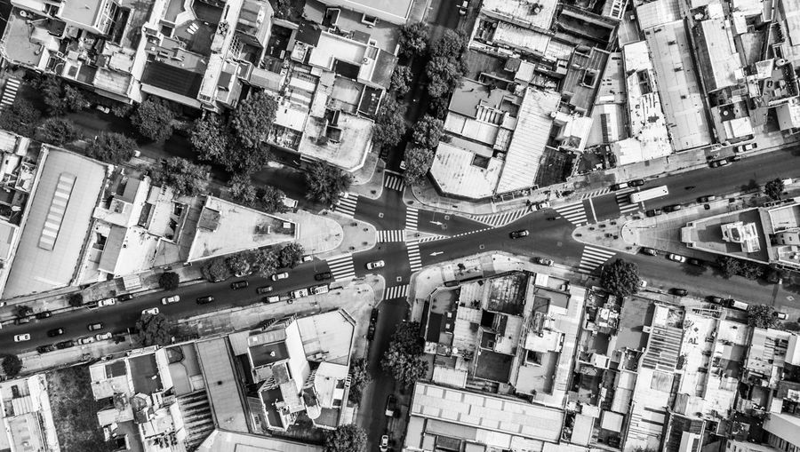 Aerial View Architecture Blackandwhite Building Exterior Built Structure City City Life City Street Cityscape Dji Drone  High Angle View Land Vehicle Night No People Outdoors Road Street The Architect - 2017 EyeEm Awards Transportation