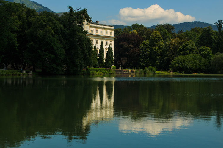 Schloss Leopoldskron Palace Tree Reflection Architecture Built Structure Travel Destinations Outdoors Lake Water Nature History The Sound Of Music Travel Photography Europe Travel The Week On EyeEm Scenics Do Re Mi Palace Salzburg Austria Perspectives On Nature