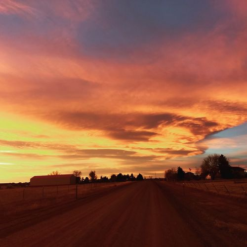 Dramatic Sky Cloud - Sky Road No People Beauty In Nature Nature Red Sunrise Sunrise_sunsets_aroundworld Sunrise And Clouds Sunrise_Collection Sunrise Colors Sunrise - Dawn Colorado Colorado Photography Coloradogram Coloradoliving Moto Z Play Motoz MotoZPlay Cameraphonephotography EyeEm Gallery Eyeemphotography Illuminated