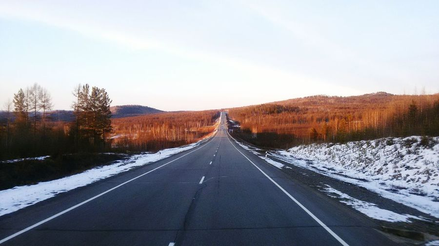 On the road in Chita. Russia.