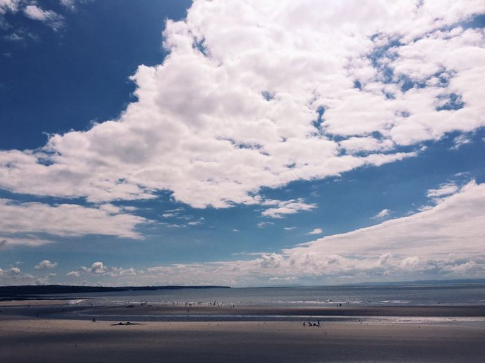 Beach Beauty In Nature Beach Seaside Clouds And Sky Tide Out Sunny Day Escape Relax Sunday Afternoon Good Times Sunny Non-urban Scene Mostly Sky Sky And Clouds Weekend