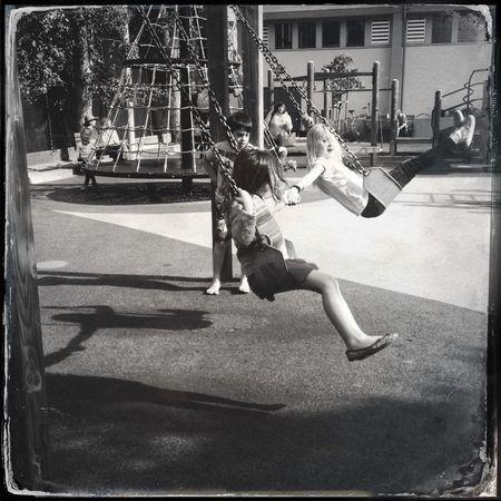 Swings Having Fun Swinging Kids Being Kids Hipstamatic