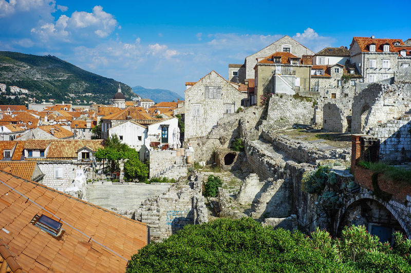 Old town of Dubrovnik, Croatia Architecture Built Structure Building Exterior Building Sky Residential District Nature City House Tree Mountain Day Plant Town No People Cloud - Sky Outdoors Travel Destinations Old History TOWNSCAPE Game Of Thrones Old Town, Dubrovnik.