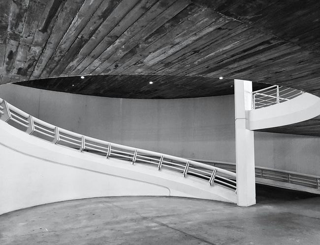 Curves Curve Built Structure No People Contemporary Futuristic Empty Black And White Monochrome Photography Underground Underground Parking Grey Geometric Ramp Lines The Street Photographer - 2017 EyeEm Awards The Architect - 2017 EyeEm Awards