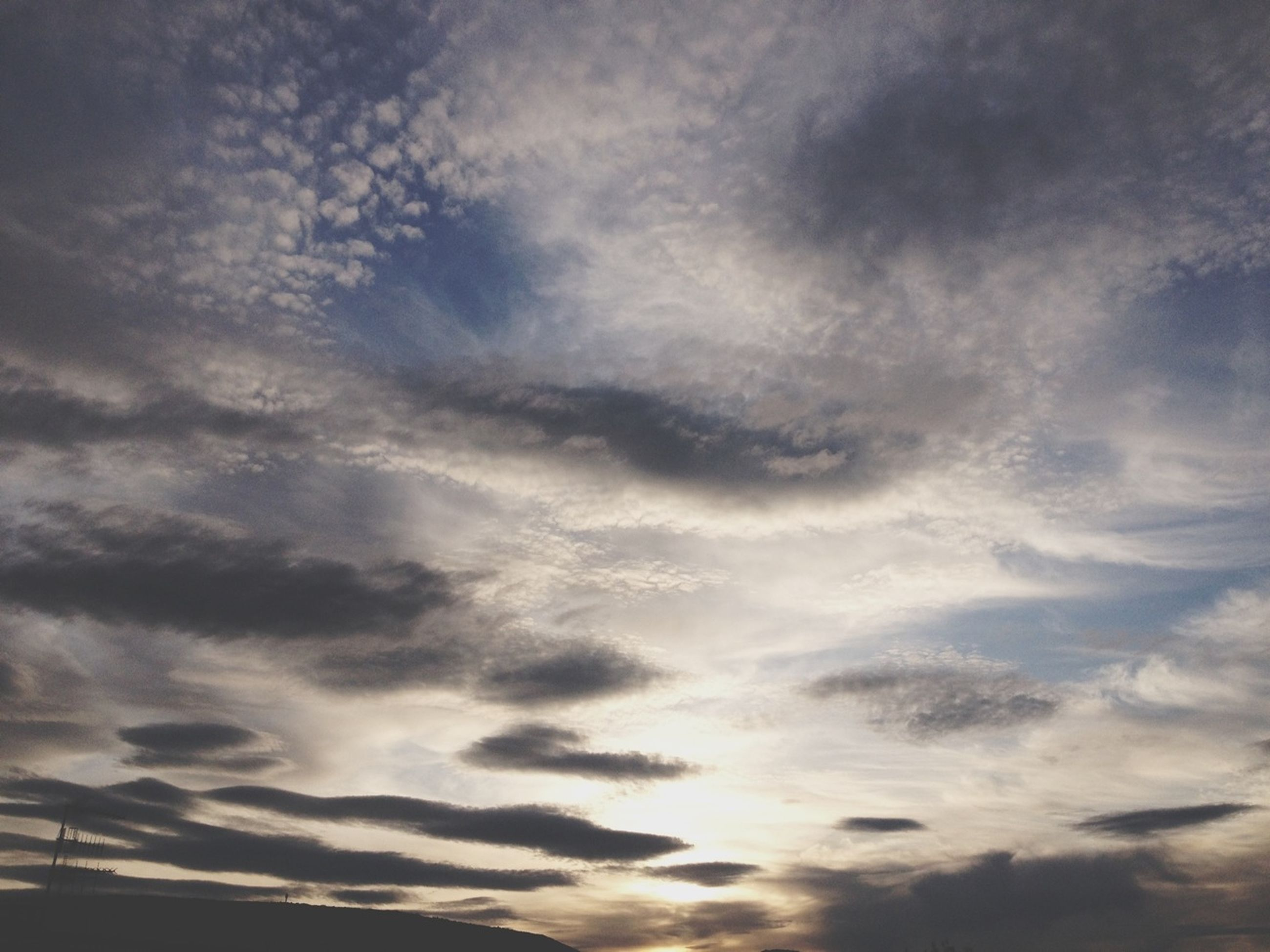 sky, cloud - sky, cloudy, low angle view, tranquility, beauty in nature, scenics, tranquil scene, cloudscape, nature, weather, sky only, cloud, overcast, idyllic, backgrounds, sunset, dramatic sky, outdoors, majestic