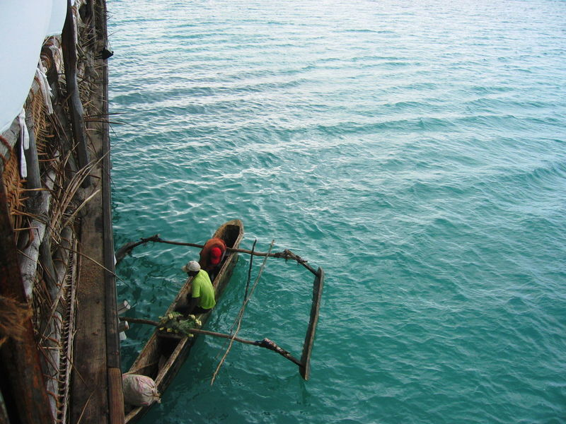 2006 Boat Day Fisherman Outdoors Real People Sea Two Persons Water Zanzibar