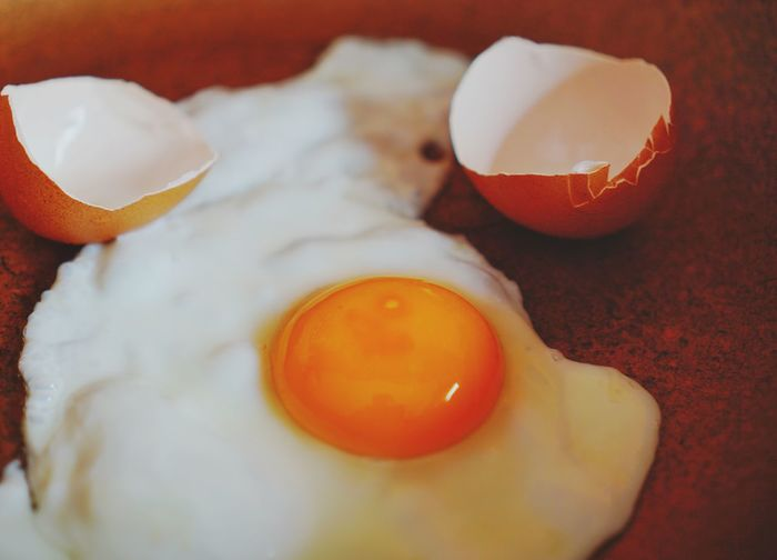 Fried eggs and