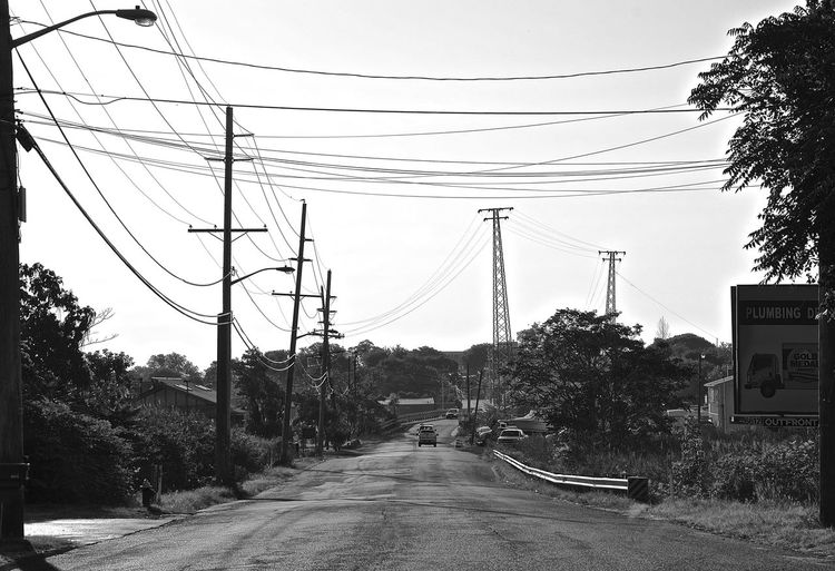 lonely in the countryside American Cable Connection Countryside Landscape New Yersey No People Power Cable Power Line  Sky Street Streetphotography First Eyeem Photo