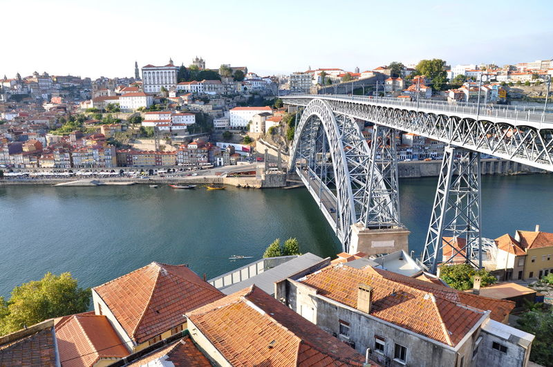 Architecture Bridge Bridge - Man Made Structure Building Exterior Built Structure Canal Capital Cities  City City Life Cityscape Connection Day Development Engineering No People Outdoors Porto Residential Building Residential Structure River Sky Town TOWNSCAPE Travel Destinations Water