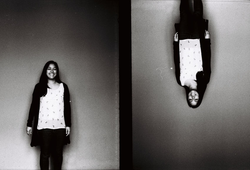 Analogue Photography Black And White Day Eyeem Studio Kreuzberg Film Photography Half Frame Half Frame Portraits Indoors  One Person Portrait Real People Standing Team Awesome Young Adult