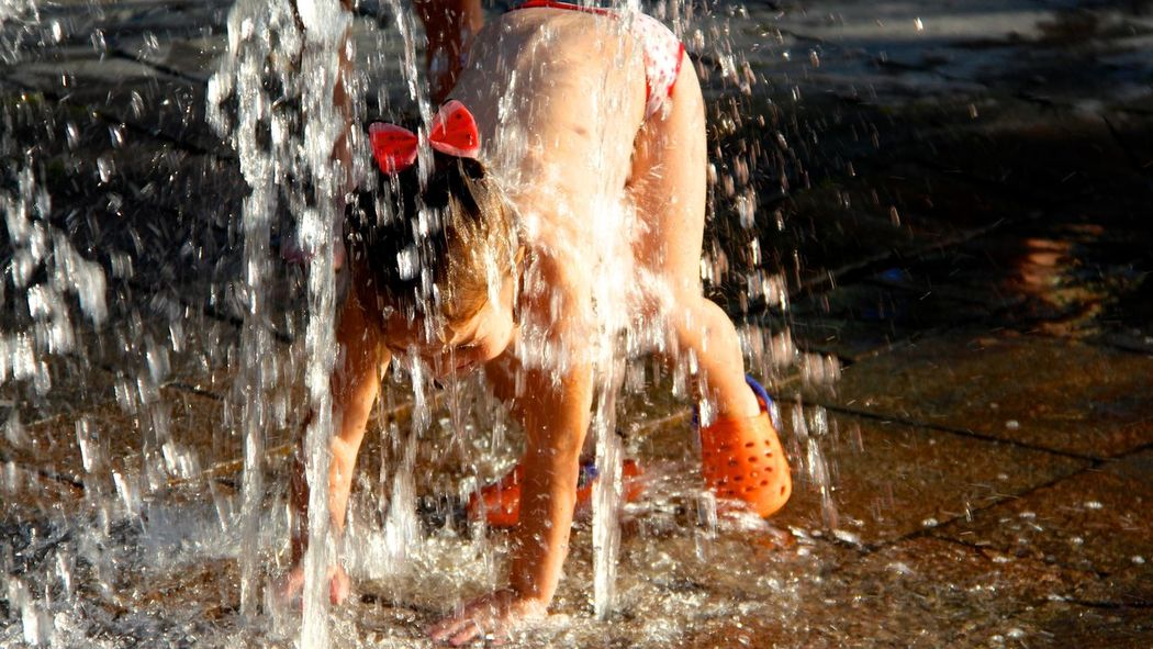 Sublime. Capture The Moment Capturing Freedom Childhood Children Fountains Lake Littlelady Motion Nature Outdoors People And Places Summertime Tranquility Water Wish People And Places.