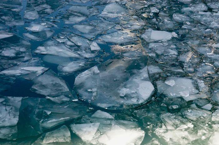 Ice Full Frame Crystal Backgrounds Geology Quartz Textured